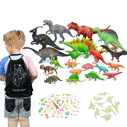Dinosaur Toys Gift Package-20 Pack Educational Dinosaur Toys for Boys Toddlers Kids Realistic Dinosaur Figures Toys for Gift and Learning Toys ( T-rex, Triceratops, Velociraptor, etc )
