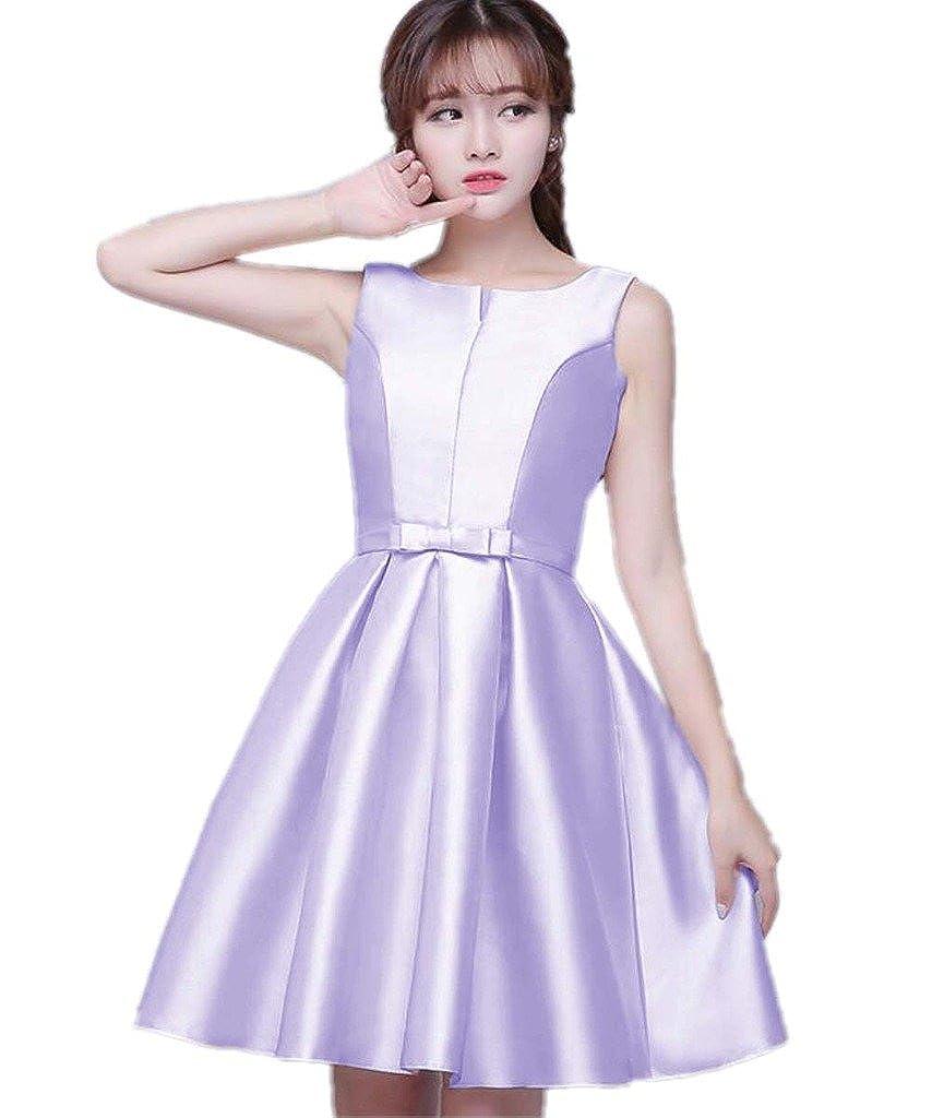 Lavender APXPF Women's Short Sleeveless Bridesmaid Dress Formal Prom Dress