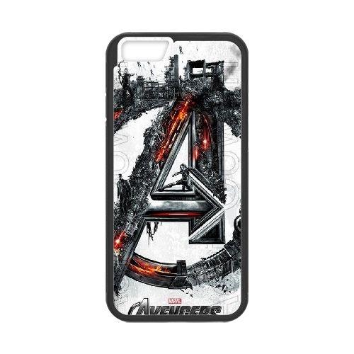 Avengers Age Of Ultron Black coque iPhone 6 Plus 5.5 Inch Housse téléphone Noir de couverture de cas coque EBDOBCKCO12454
