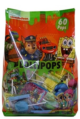 Nickelodeon Assorted Character Candy Lollipops, 60 Count]()