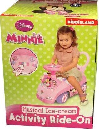 new disney minnie musical ice cream activity ride on amazon co uk