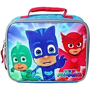 PJ MASKS GECKO, CATBOY & OWLETTE Boys Lead-Free Insulated Lunch Tote Box by