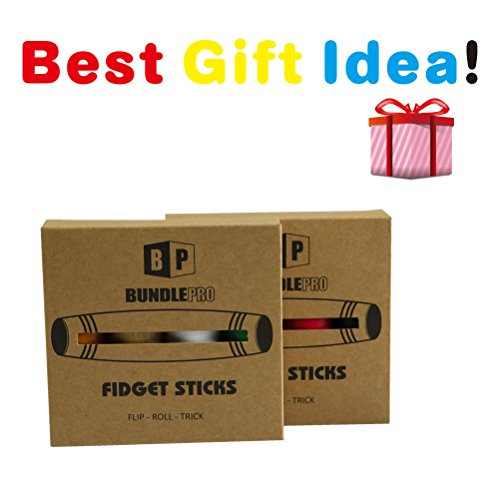 Pack of 8 Fidget Stick Roller Anxiety Stress Relief Focus Desk Toy Boredom Rolling Finger Gadget for Children Adults Premium Quality Solid Wood (Multicolor-8pcs) Photo #6
