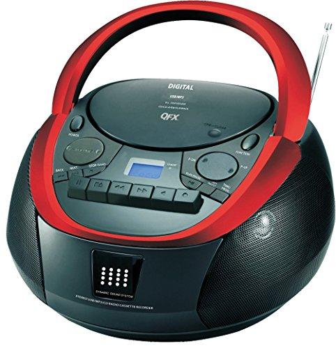 Quantum QFX J-71 Portable Top-loading CD/Cassette/MP3 Ste...