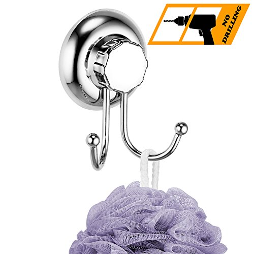 Towel Ring with Strong Plastic Suction Cup (Silver) - 6