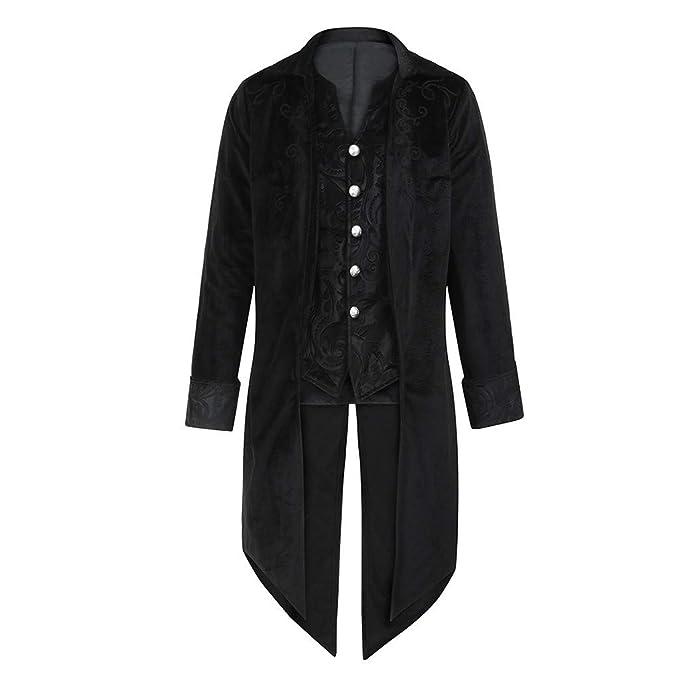 Amazon.com: WUAI-Men Steampunk Chaqueta victoriana gótica ...