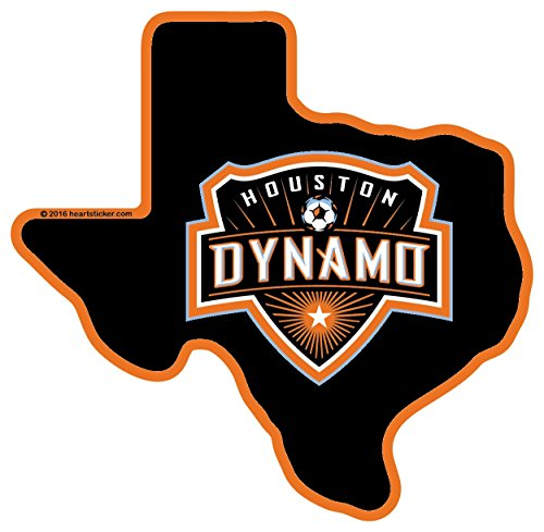 Dynamo Ball - Houston Dynamo Texas Sticker Vinyl Decal Label Stickers, Die-Cut Shape for Water Bottle Laptop Luggage Bike Laptop Car Bumper Helmet Waterproof Show Love Pride Local Spirit MLS Soccer