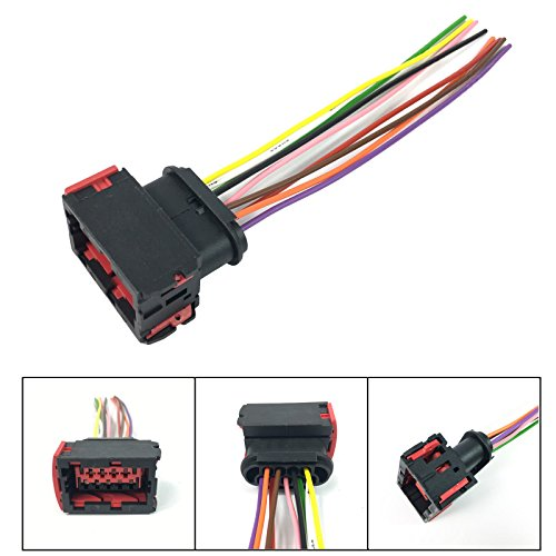 HEADLIGHT SOCKET WIRING HARNESS LOOM 9 PIN CONNECTOR: