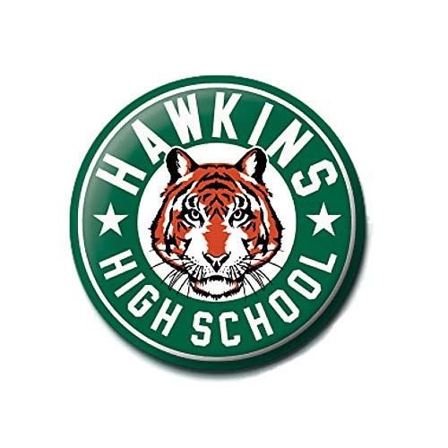 Genuine Stranger Things Hawkins High School Badge Pin Badge Netflix Upside Down