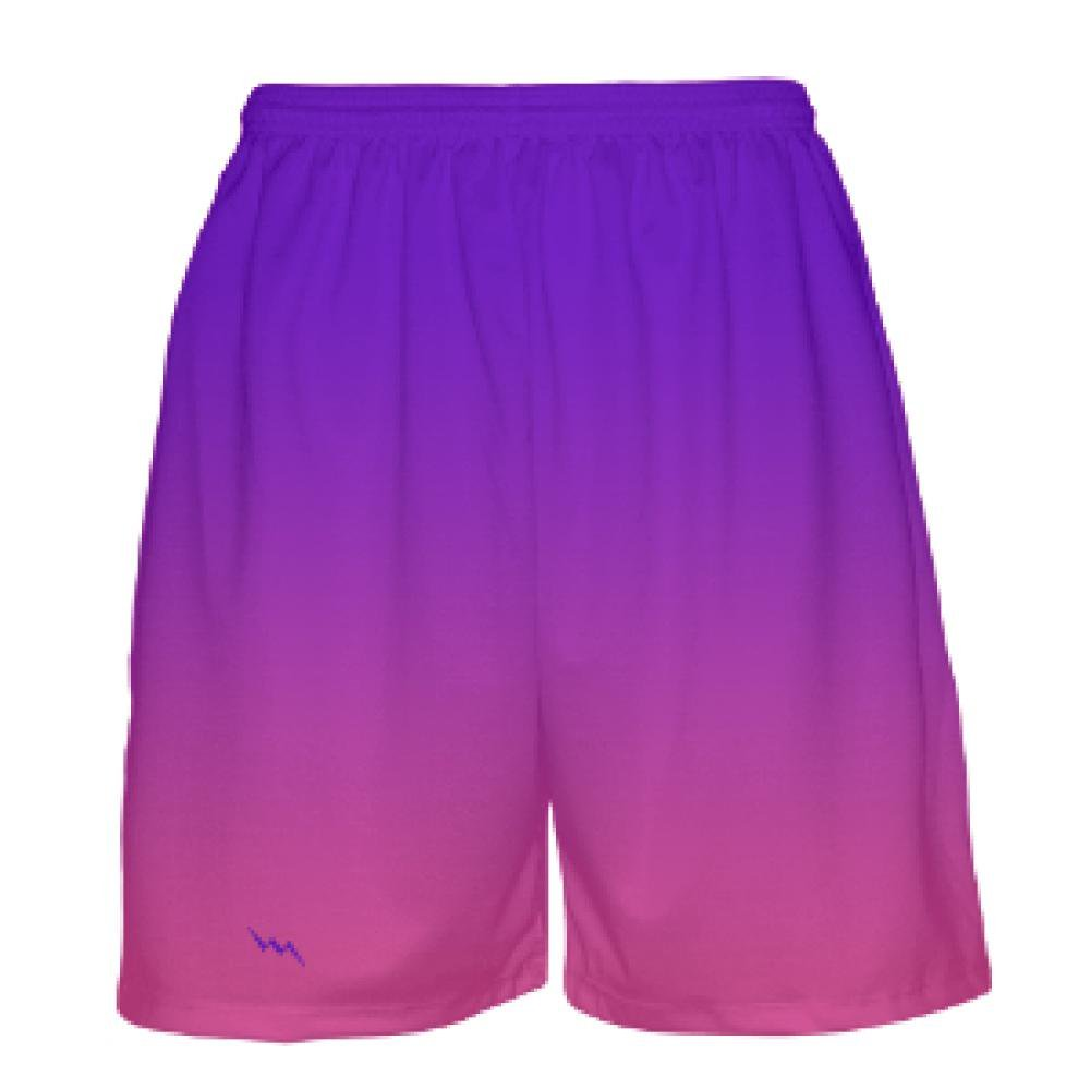 Purple Ombre Basketball Shorts Youth Purple to Pink Fade Basketball Shorts Kids Basketball Apparel