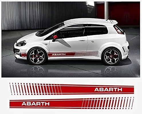 Amazon.com: Fiat Punto Abarth EVO Look Side Decal Abarth 180cm 2pcs. Set (red): Automotive