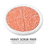 KEEPOW 4 Packs Heavy Scrub Mop Pads Replacement for Bissell Spinwave 2039A 2124 Powered Hard Floor Mop