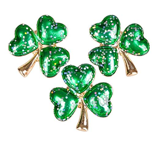 1 In Glitter Shamrock Pin -