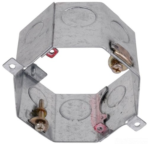 Steel City 54531-1/2&3/4 Concrete Outlet Box, Octagon, Drawn Construction, 4-Inch Diameter by 2-Inch Depth, Galvanized, 25-Pack ()
