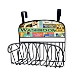 Stupell Home Décor Peace is A Long Hot Bath Over The Door Organizer Basket, 11 x 11 x 6, Proudly Made in USA