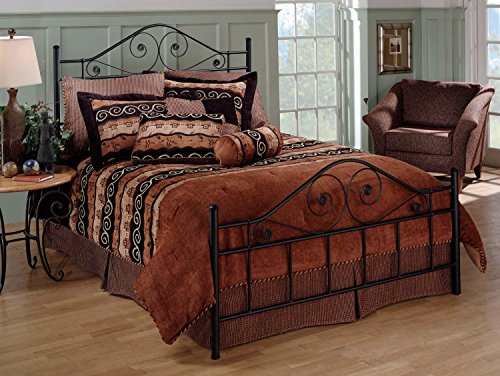 Hillsdale Harrison Metal Headboard - Hillsdale Furniture 1403BFR Hillsdale Harrison Frame Full Bed Set, Ee Black