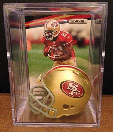 (San Francisco 49ers NFL Helmet Shadowbox w/ Frank Gore card)