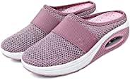 Women's Air Cushion Slip-on Walking Shoes, Orthopedic Diabetic Walking Shoes, Fit Comfy Outdoor Knit Sneak