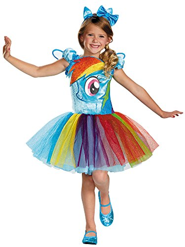 Disguise Hasbro's My Little Pony Rainbow Dash Tutu Prestige Girls Costume, Medium/7-8 -