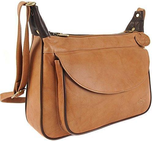 Gigi Othello Leather Shoulder Bag Shoulder 22-17 Various Colors - Red, Big Black / Honey