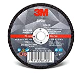 3M Silver Cut-Off Wheel 87458, T1, 3'' x .035'' x 3/8'', Black (Pack of 25)