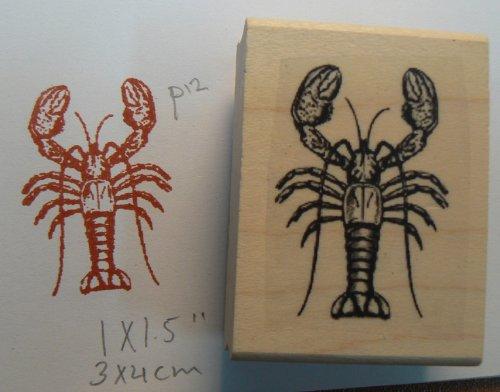 Lobster Rubber Stamp Wm P12