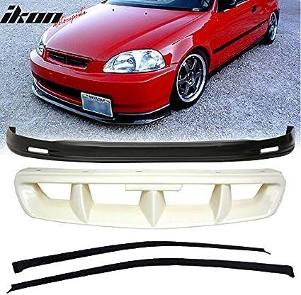 Sun Window Visor Fits 96-98 Honda Civic 4Dr TR Style Front Bumper Lip
