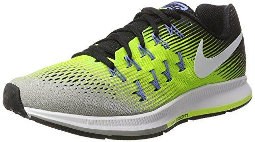 Nike Herren Air Zoom Pegasus 33 Matt Silber / Weiß-Volt-Schwarz