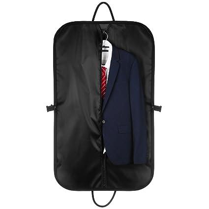 Fundas Ropa, CMXING Funda para traje , cubre traje con asas para viajar, negro