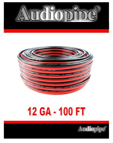 Home Wire (Audiopipe 12 GA Gauge Red Black Stranded 2 Conductor Speaker Wire For Car, Home Audio, 100 feet)
