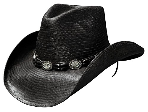 Bullhide Black Hills Western Hat Shantung Panama Black Medium ()
