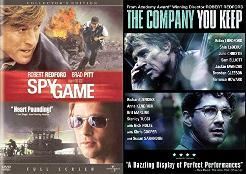 Robert Redford Fast Paced Thrillers Double Feature: Spy Game & The Company You Keep 2-DVD Feature Film Bundle