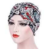 Women's Muslim Stretch Turban Hat Hair Loss Head Wrap Cap Chemo Cap Sleep Cap Fashion Slouchy Hats for Women