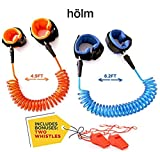 kids safety - Toddler harness walking leash- child anti lost wrist link - child safety harness - 2 pack (4.9ft & 8.2ft )- child safety wrist link - 2 Bonus Whistles