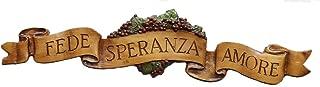 product image for Piazza Pisano Italian Wall Decor Fede Speranza Amore Faith Hope Love Door Topper