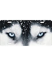 ATD Design LLC Novelty License Plate Wolf Eyes Vanity Plate Siberian Husky