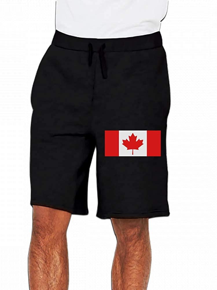 JiJingHeWang Flag Canada Mens Casual Shorts Pants