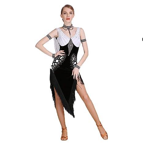 C&X Falda De Espectáculo De Baile Latino Profesional para Adultos ...