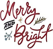 Sizzix Thinlits Die Set 6PK 664739 Merry & Bright by Tim H