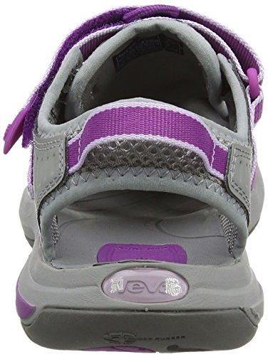 Teva Rosa W's, Sandalias de Punta Descubierta para Mujer Varios Colores (Grey/dark Purple)