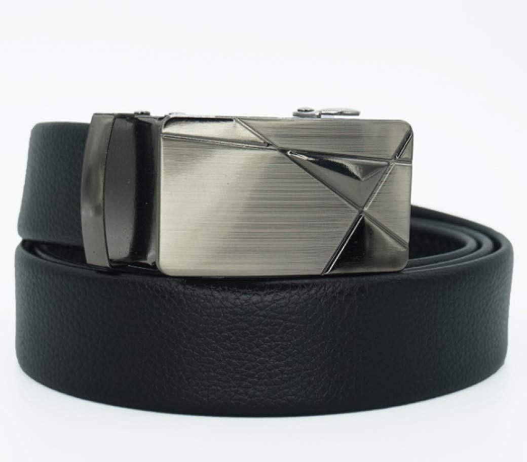 APARAN Mens Leather Ratchet Dress Belt with Automatic Buckle