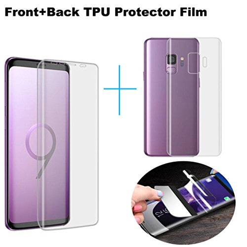 Sunfei Front+Back Ultra Thin Clear TPU Screen Protector Film For Samsung Galaxy S9/ Samsung Galaxy S9 Plus (6.2inch) by Sunfei (Image #6)