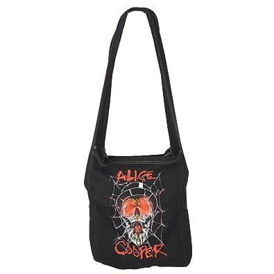Alice Cooper Top Hat Skull Web Women S Shoulder Bag Amazon Co Uk
