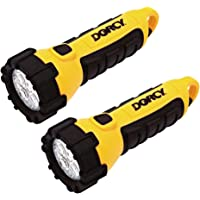 Dorcy 41-2524 2 pk Floating LED Flashlight with Carabineer Clip, 55-Lumens, Yellow