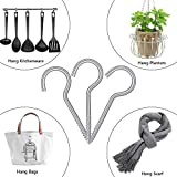 Screw Hooks Self-Tapping Ceiling Hooks Carbon Steel Cup Hooks for Home Office Garden