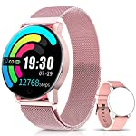 NAIXUES-Smartwatch-Reloj-Inteligente-IP67-con-Presin-Arterial-10-Modos-de-Deporte-Pulsmetro-Monitor-de-Sueo-Notificaciones-Inteligentes-Smartwatch-Hombre-Mujer-para-iOS-y-Android-Rosa
