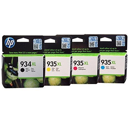 HP 934XL 935XL Ink Cartridges in Retail Packaging (1 Black - 1 Cyan - 1 Magenta - 1 Yellow)