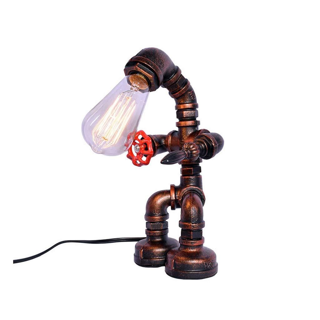 CXD Tischlampe Bronze Vintage Schreibtischlampe Kleines Industrielles Licht Nachttischlampe Nachttischlampe Steampunk Akzentlicht Edison Lampensockel Antikes Nachtlicht für Wohnzimmer Schlafzimmer
