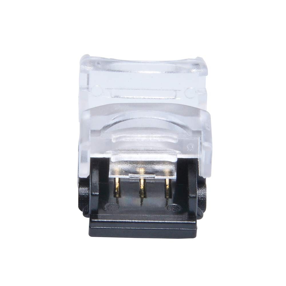 Davitu 10pcs Connector for 3 Pin 10mm IP65 WS2812 Waterproof LED Digital Light Pixel Strip to Strip Connection WS2812B Connector