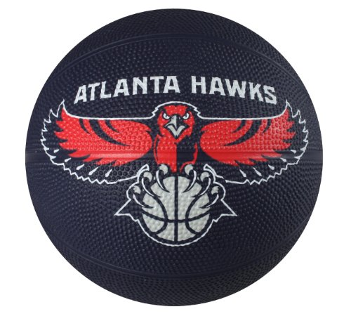 Spalding NBA Atlanta Hawks Mini Rubber Basketball
